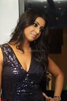 Sanjana looks happy in sparkling short Deep neck Purple Gown ~  Exclusive 16.JPG