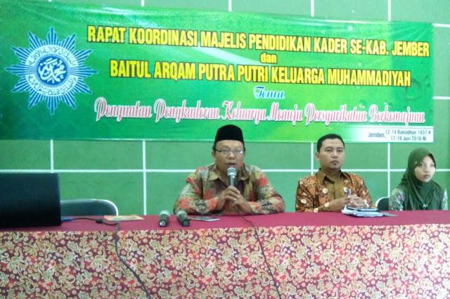 Rakor Majelis Pendidikan Kader Pimpinan Daerah Muhammadiyah Kabupaten Jember 2016