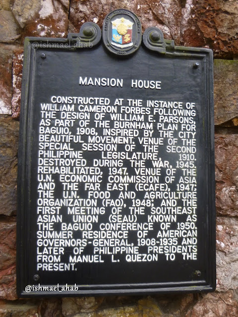 Historical marker of the Mansion House in Baguio