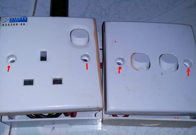 Finishing tutup dan baut kan stop kontak pada box