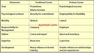 Comparison of Traditional Career and Protean Career