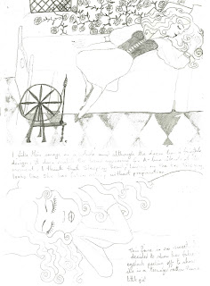 Oh Dali Give Us Strength: Initial Drawings for Sleeping Beauty