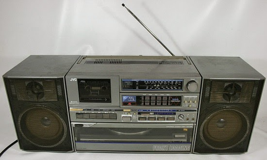 JVC DC-33L Ghettoblaster with detachable speakers