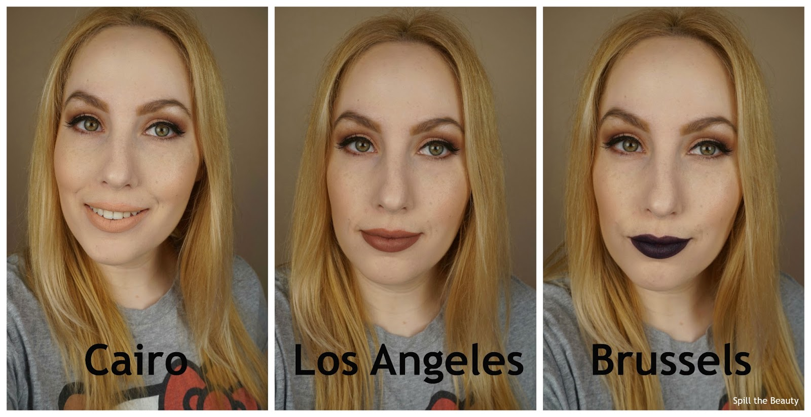 NYX Soft Matte Lip Cream 'Cairo', 'Los Angeles', 'Brussels' - Review, and Swatches