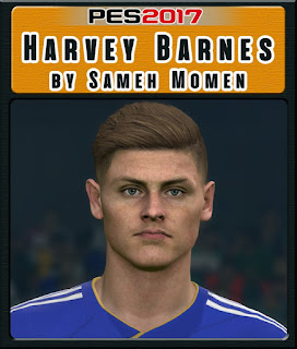 This face can be used for Pro Evolution Soccer  Update, PES 2017 Faces Harvey Barnes by Sameh Momen