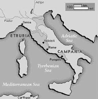 Peta Kekuasaan Pemerintahan Etrusci