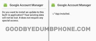 Google Account Manager Screenshots