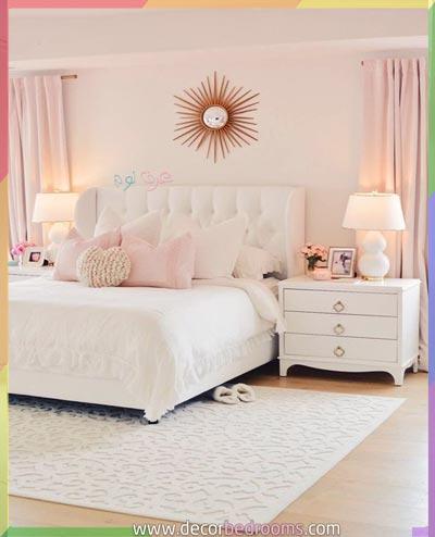 ترتيب غرف النوم مع ألوان بسيطة وأنيقة