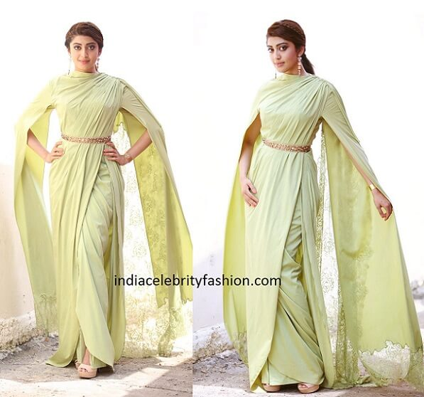Pranita Subhash in Neeta Lulla Drape Gown