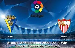 Prediksi Cadiz Vs Sevilla 29 September 2020
