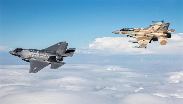 f-35 and f-16 israeli air force