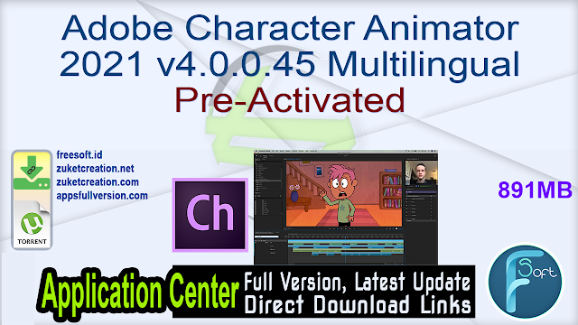 Adobe Character Animator 2021 v4.0.0.45 Multilingual Pre-Activated