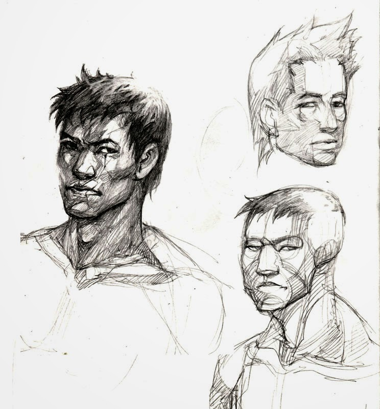 Grace Liu's Practice Blog: Sub-zero Face sketches