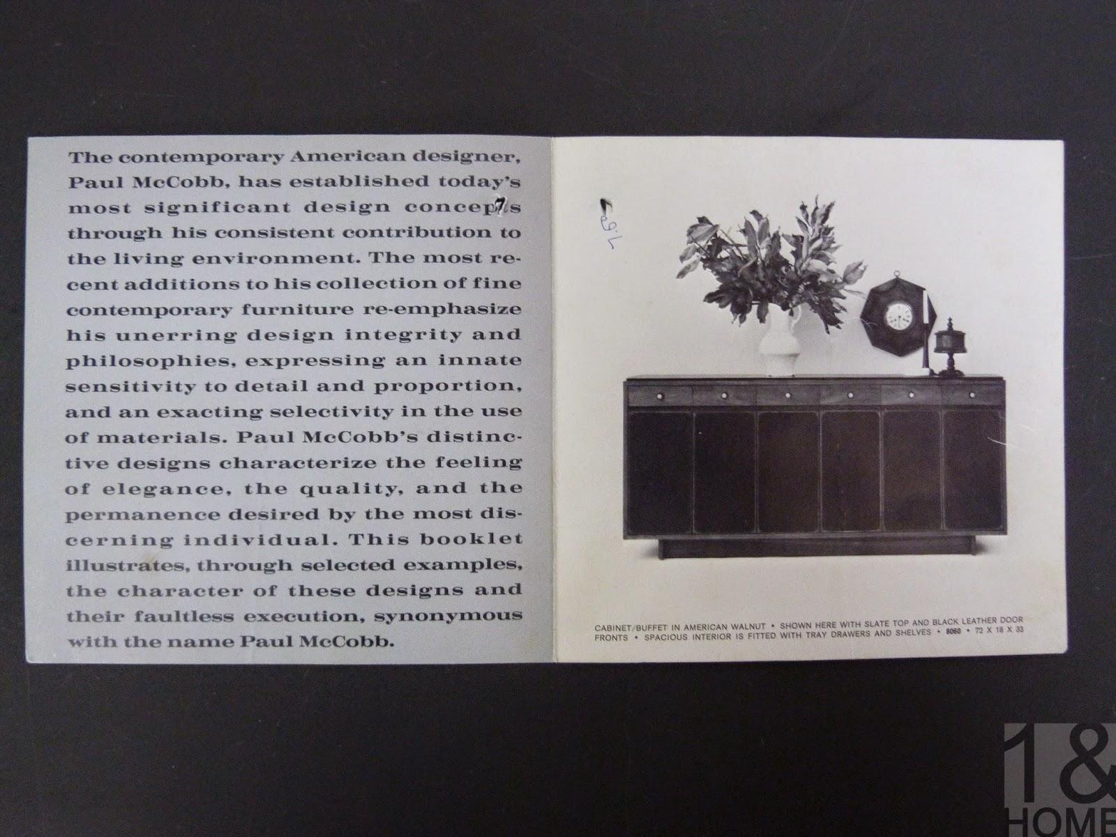 Paul McCobb's Showroom Incorporated Brochure Mid-Century Modern