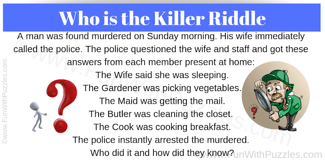 This is crime riddle in which you have to play the detective and solve this murder mystery case