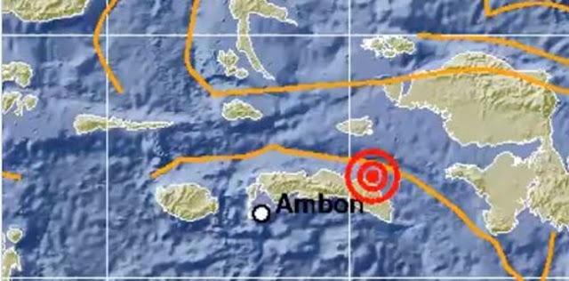 Maluku Diguncang Gempa Magnitudo