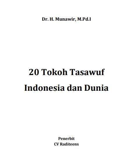 Buku 20 Tokoh Tasawuf Indonesia dan Dunia  (Download PDF Gratis !!!!)