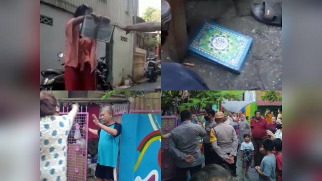 Gempar, Wanita Ngaku Yahudi Lempar Al Quran, Rumahnya Digeruduk Warga
