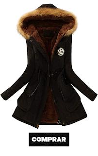 SHOBDW Invierno Mujeres Moda Informal abrigo