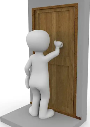 a man kept knocking on a door hoping to get an answer