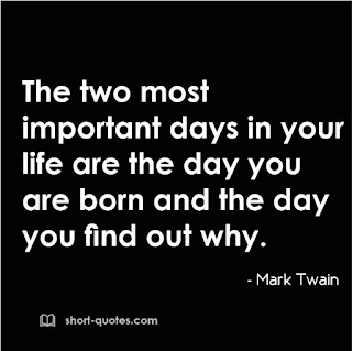 two important days in life quote