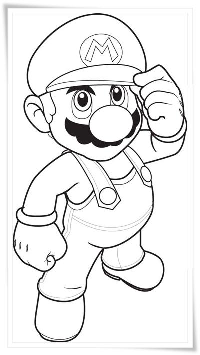 Ausmalbilder zum Ausdrucken: Ausmalbilder Super Mario