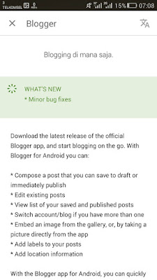 deskripsi app blogger
