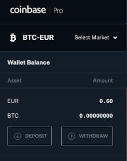 Deposit on Coinbase Pro