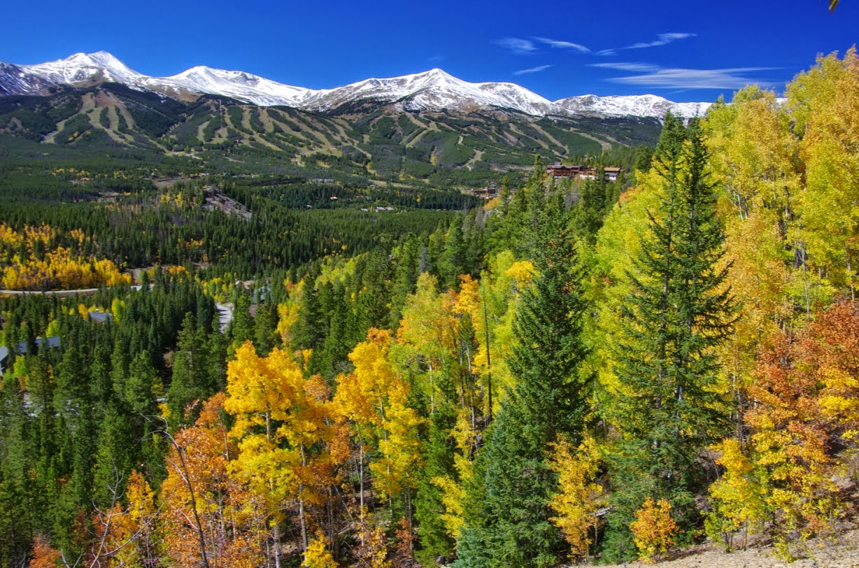 Breckenridge ski resort, view from Boreas Pass in fall