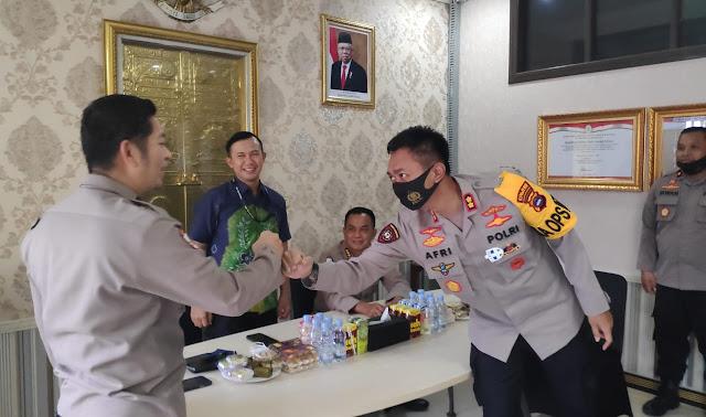 Kapolres HSU AKBP Afri Darmawan SIK Terima Kunjungan Tim Wasrik Tahap II. TA. 2020 Dari Itwasda Polda Kalsel