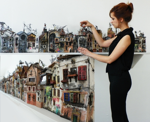 00-Katarina-Pridavkova-Fantasy-Architecture-in-Plaster-and-Clay-Town-www-designstack-co