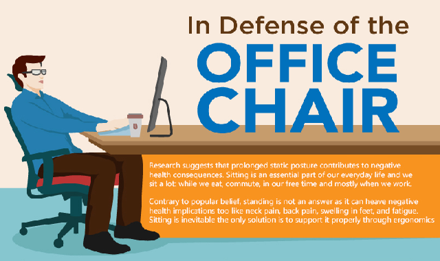 In Defense of the Office Chair #infographic