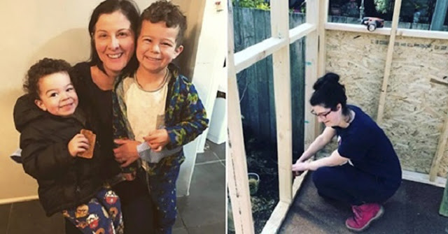 После развода муж выгнал с двумя детьми из дома. Мать своими руками построила себе дом!