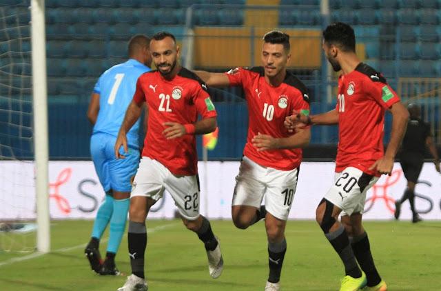 ملخص وهدف فوز مصر علي انجولا (1-0) تصفيات كأس العالم