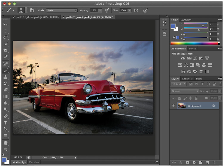 Adobe Photoshop CS features