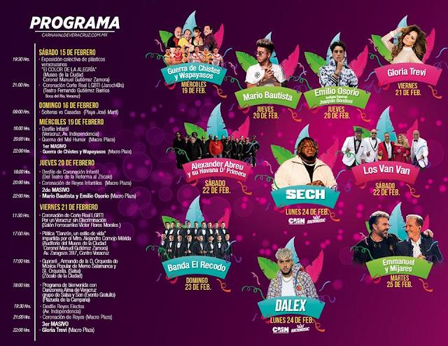 programa completos carnaval veracruz 2020