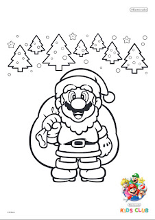 christmas yoshi coloring pages - photo#2