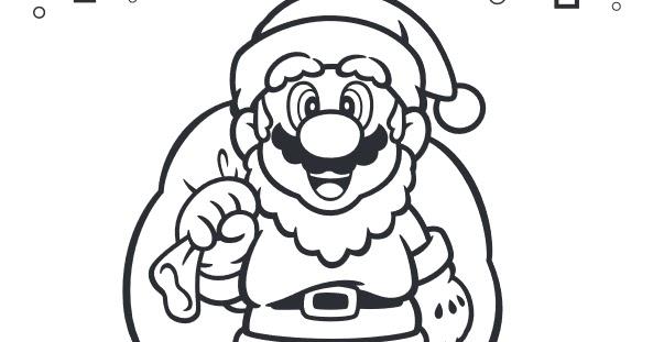 My Super Mario Boy: Mario Christmas Colouring-In Sheet