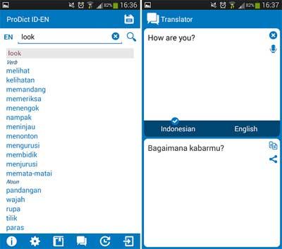 Indonesian-English dictionary