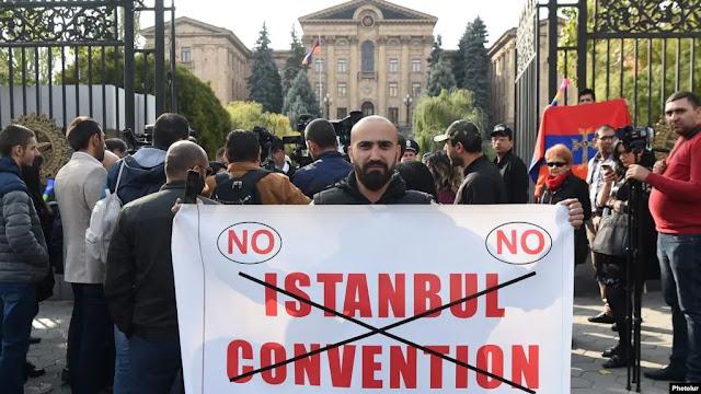 Protesta contra la Convención de Estambul en Armenia