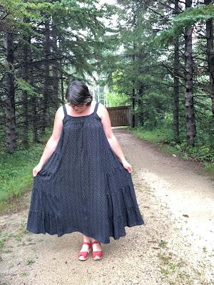 Marcel Dress shown in it's full width glory