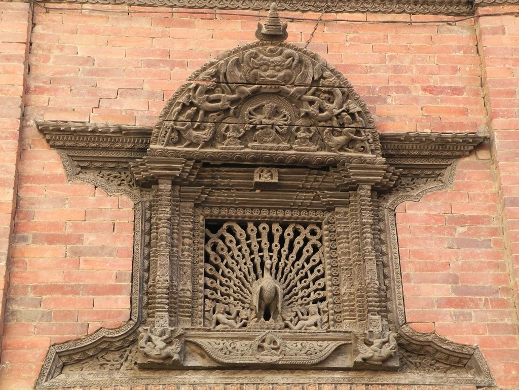 Woodcarving of Nepal, peacock window