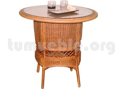 mesa comedor en rattan j911