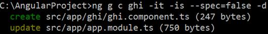 angular generate flat component