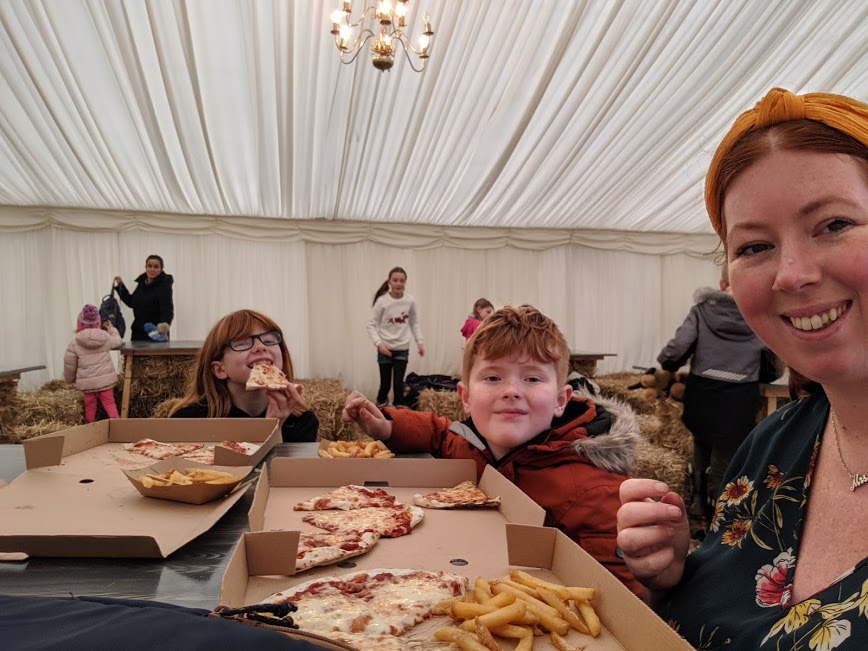 Food and picnic  marquee at Kielder Winter Wonderland