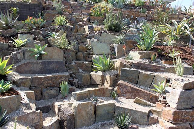 Hillside rock garden