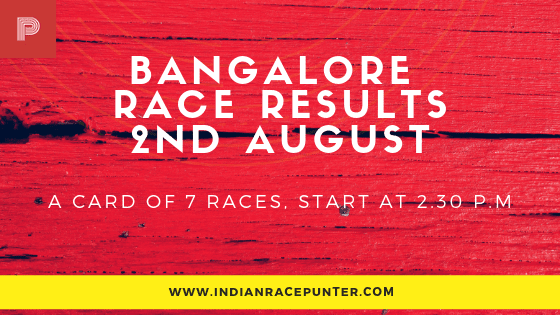 Bangalore Race Results 2nd August