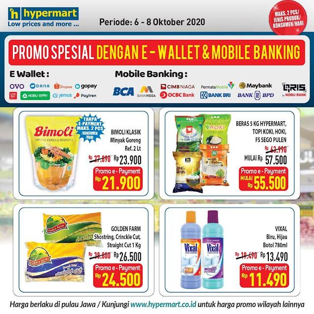 #Hypermart - #Promo Harga Spesial Produk Tertentu Bayar Pakai EWallet (s.d 08 Okt 2020)