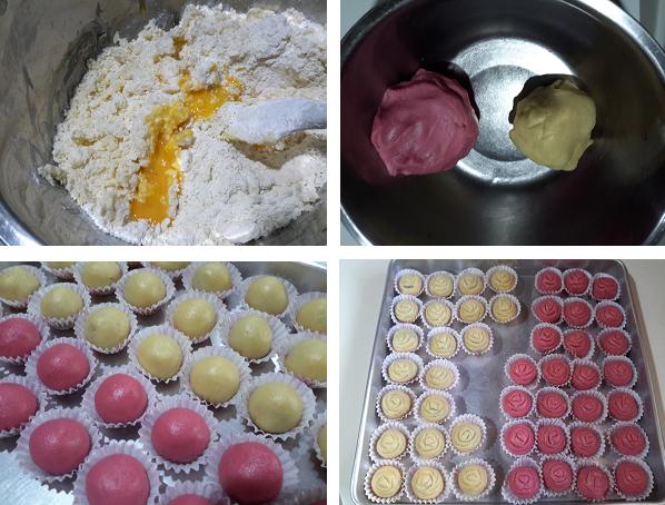 2021年饼- 玫瑰花蓝莓黄梨饼( Rose Blueberry Pineapple Tart )