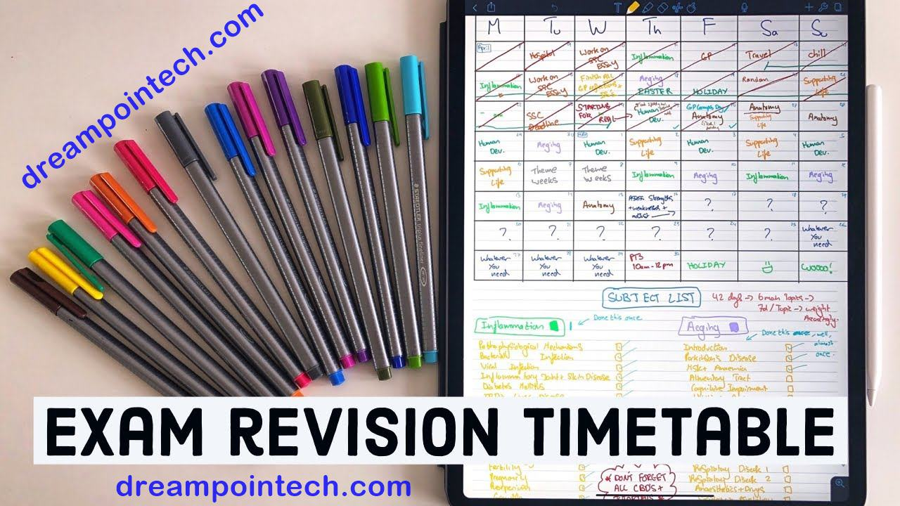 Crucial Benefits of a Revision Timetable To GCE Students